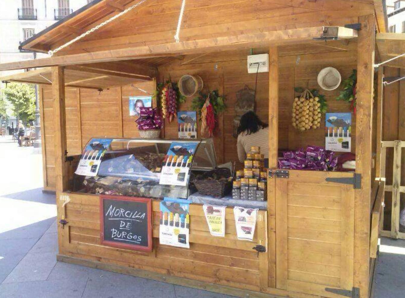 Alquiler de casetas de madera para eventos